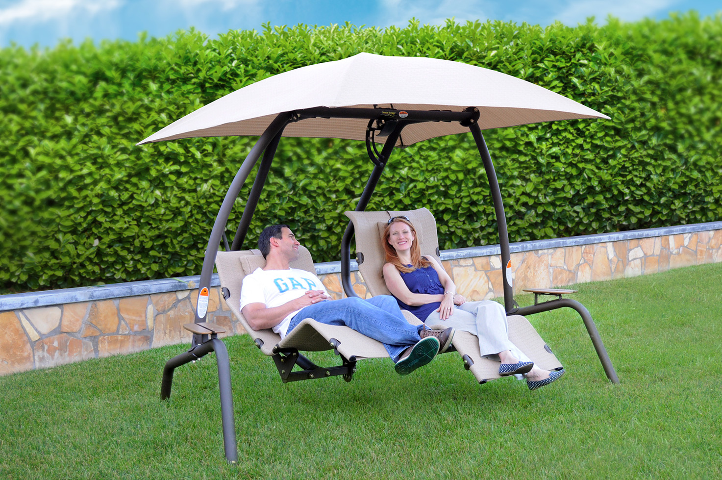 New 422l Swing Zero Gravity 2 Person Swing